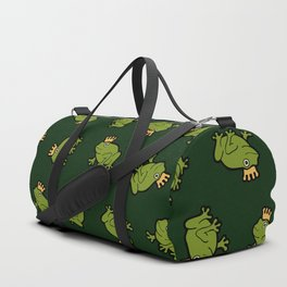 Frog Prince Pattern Duffle Bag