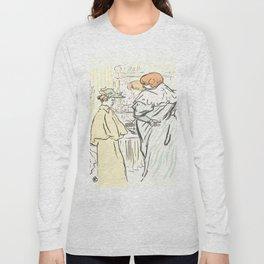 """Henri de Toulouse-Lautrec """"Alors vous êtes sages"""" Long Sleeve T-shirt"""