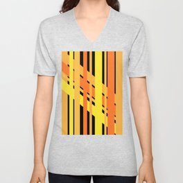 ORANGE AND YELLOW BEING FRIENDS Unisex V-Neck