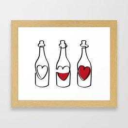 Wine and Love Framed Art Print