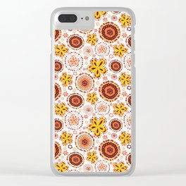 Organic Medallions -Burnt Orange Clear iPhone Case
