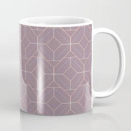 Minimalist Geometric Diamond Shapes in Musk Mauve Coffee Mug
