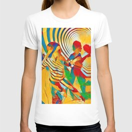 7586s-MM Red Shadow Heart Catch Cherish Set Free Abstract Romantic Love T-shirt