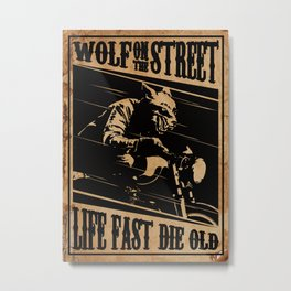 Wolf Rider Metal Print