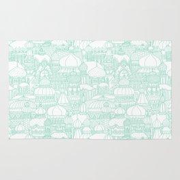 Delightful Domes - Mint Rug