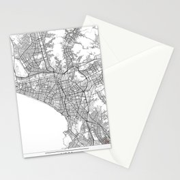 Lima Map White Stationery Cards