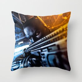 the knight strikes back Throw Pillow