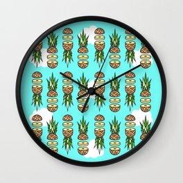 Eat pineapples Wall Clock