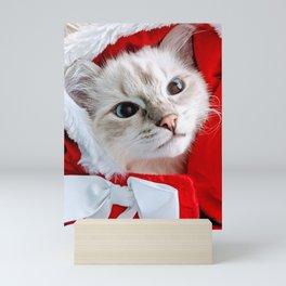 Christmas kitty Mini Art Print