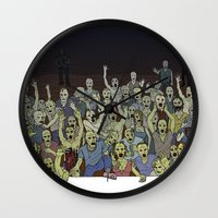 zombies Wall Clocks featuring Zombies!!! by Justin McElroy