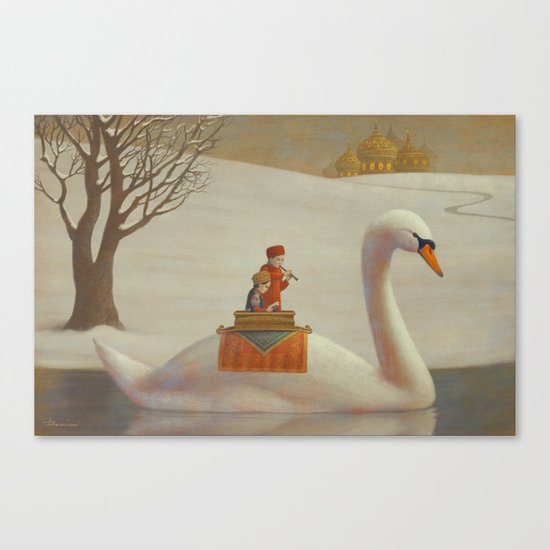 The White River Canvas Print