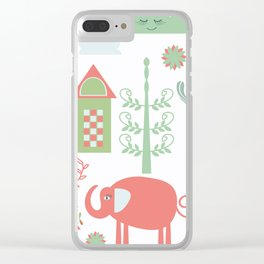 Travel pattern 4v Clear iPhone Case