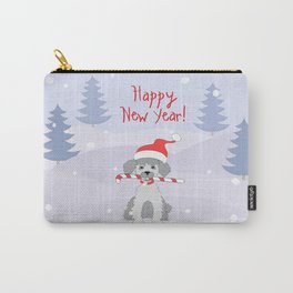 new year puppy with stick Carry-All Pouch