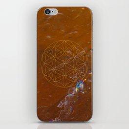 Orange Calcite // Flower of Life iPhone Skin