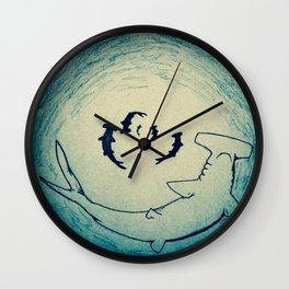 Shark Attack Wall Clock