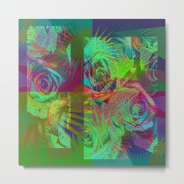 Multicoloured Roses Metal Print