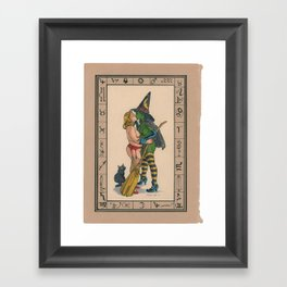 The Witches Kiss Framed Art Print