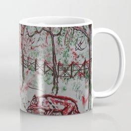 Fox and the Red Sun Coffee Mug