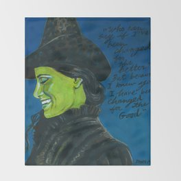 Elphaba-Wicked Throw Blanket