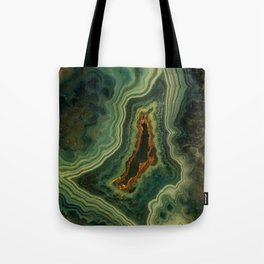 The world of gems - green agate Tote Bag