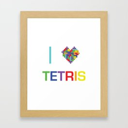 I heart Tetris Framed Art Print