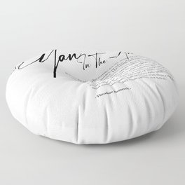 The Man In The Arena Floor Pillow