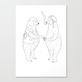 Cigarettes for bears Canvas Print