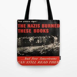 Vintage poster - Burned Books Tote Bag