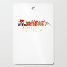 Amsterdam City Netherlands Souvenir Style Design Cutting Board