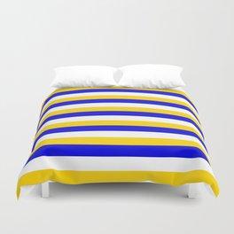 Bosnia Herzegovina Uruguay flag stripes Duvet Cover