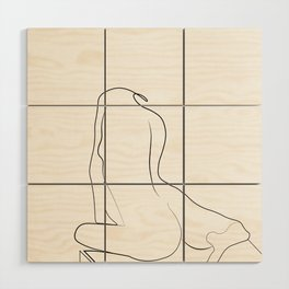 Woman One Line Wood Wall Art
