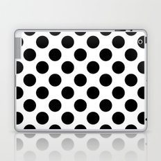Polka black Laptop & iPad Skin