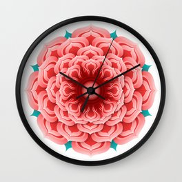 Rose Mandala Wall Clock