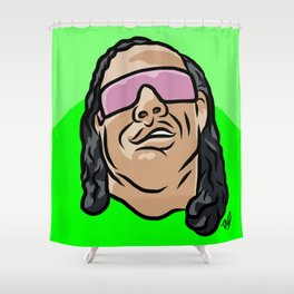"Bret ""The Gunman"" Hart Shower Curtain"