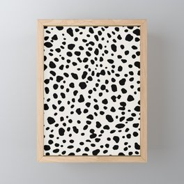 Polka Dots Dalmatian Spots Framed Mini Art Print