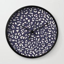 Cat seamless pattern. Ultra violet. Animal skin. Wall Clock