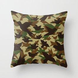Bird Camouflage 2 Throw Pillow