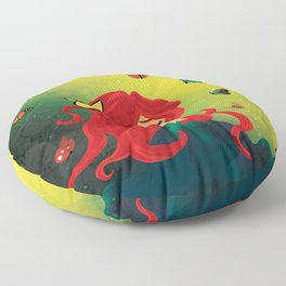 This Girl Only Sleeps with Butterflies Floor Pillow