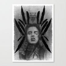 FOLK ROSES TRIANGLE Canvas Print