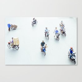 Traffic from above in Hanoi, Vietnam Canvas Print
