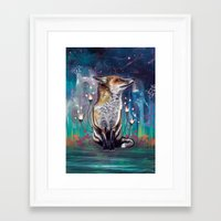 justin timberlake Framed Art Prints featuring There is a Light by Mat Miller