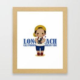 Jack Long Beach - Cute Version Framed Art Print