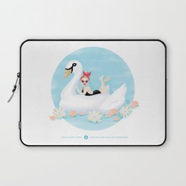 Summer Pool Party - White Swan Float C Laptop Sleeve