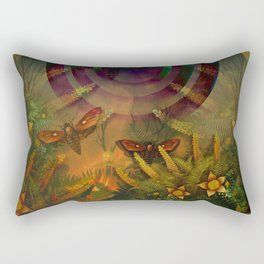 """""""A Psychedelic Forest"""" Rectangular Pillow"""