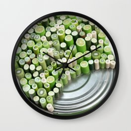 I Can : Green | Miniature Fruit on Tin Can | Contemporary Sculpture Wall Clock