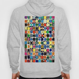 Colorful Rectangles With Texture Hoody