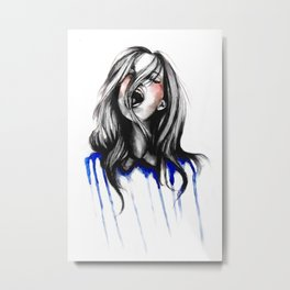 In Our Wildest Moments // Fashion Illustration Metal Print