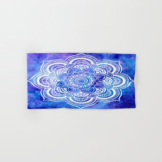 Mandala Blue Lavender Galaxy Hand & Bath Towel