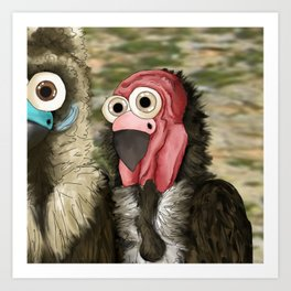 series: Old World Vultures - Sarcogyps calvus Art Print