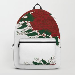 Roses Mistletoe and Holly Backpack